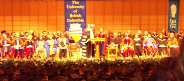 UBC graduation with Michael J Fox