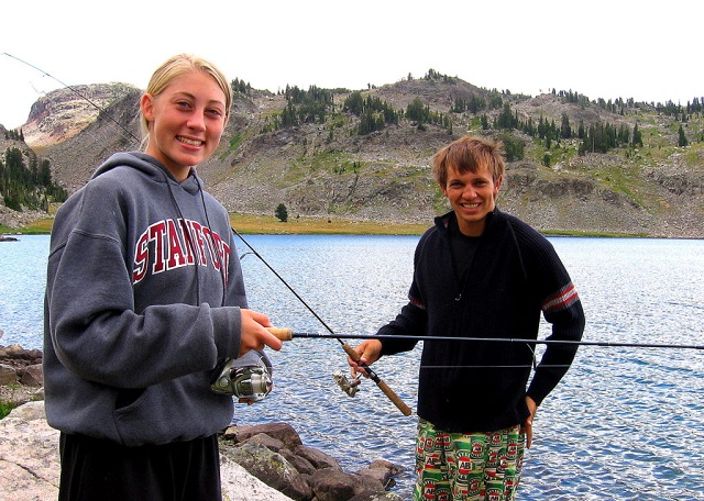 Sarah and Sterling fishing