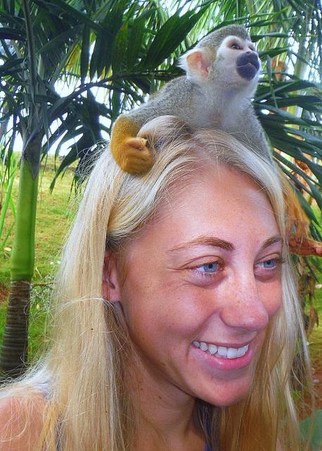 sarah-and-monkey